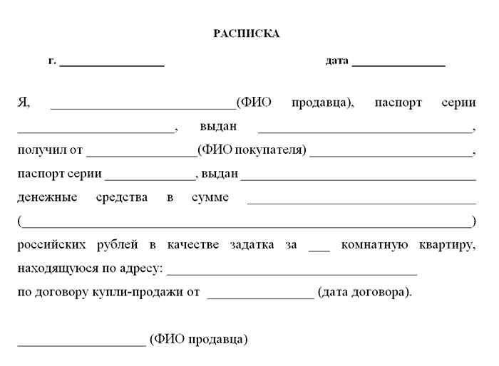 Как правильно написать расписку в получении денег ⋆ СДЕЛКИ С НЕДВИЖИМОСТЬЮ в России 2019