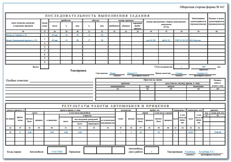 Дорожнй лист трактора форма 68 бланк